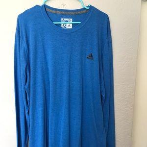 Adidas 2XLT blue long sleeve